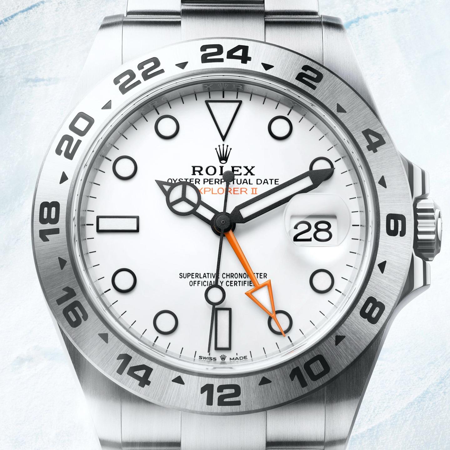 EXPLORER 2 Bianco lucido 42mm nuovo movimento 226570