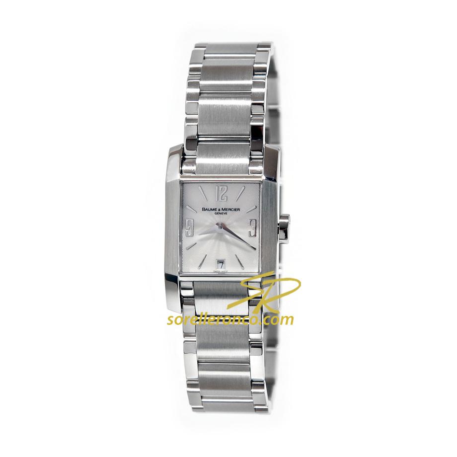 Orologio BAUME MERCIER Diamant Quarzo Lady Silver Usato