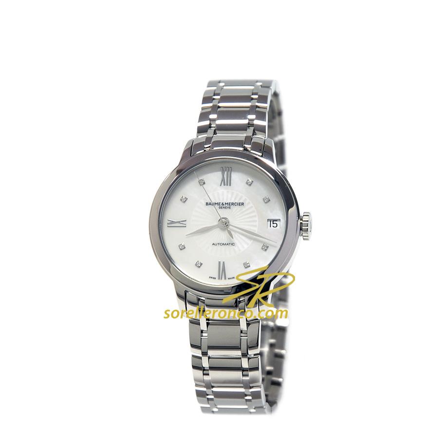 Orologio BAUME MERCIER Classima Madreperla e Diamanti Automatico Acciaio 31mm