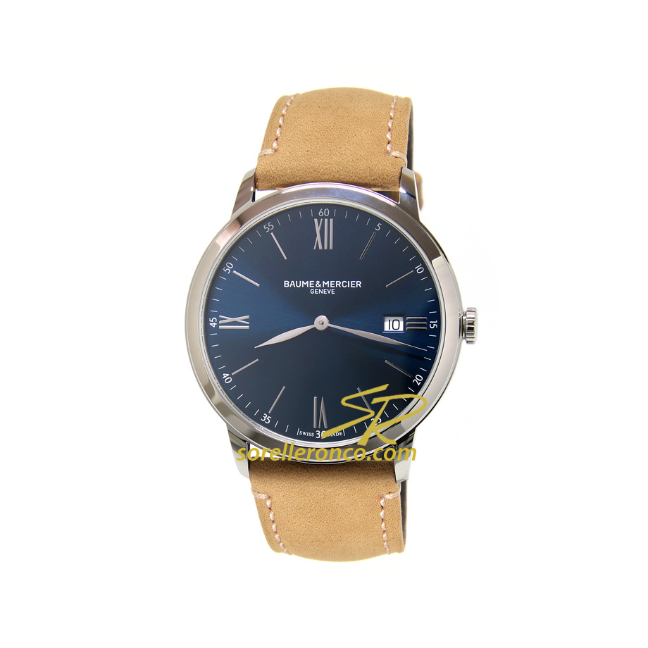 Classima Blu Quarzo Pelle Marrone 40mm