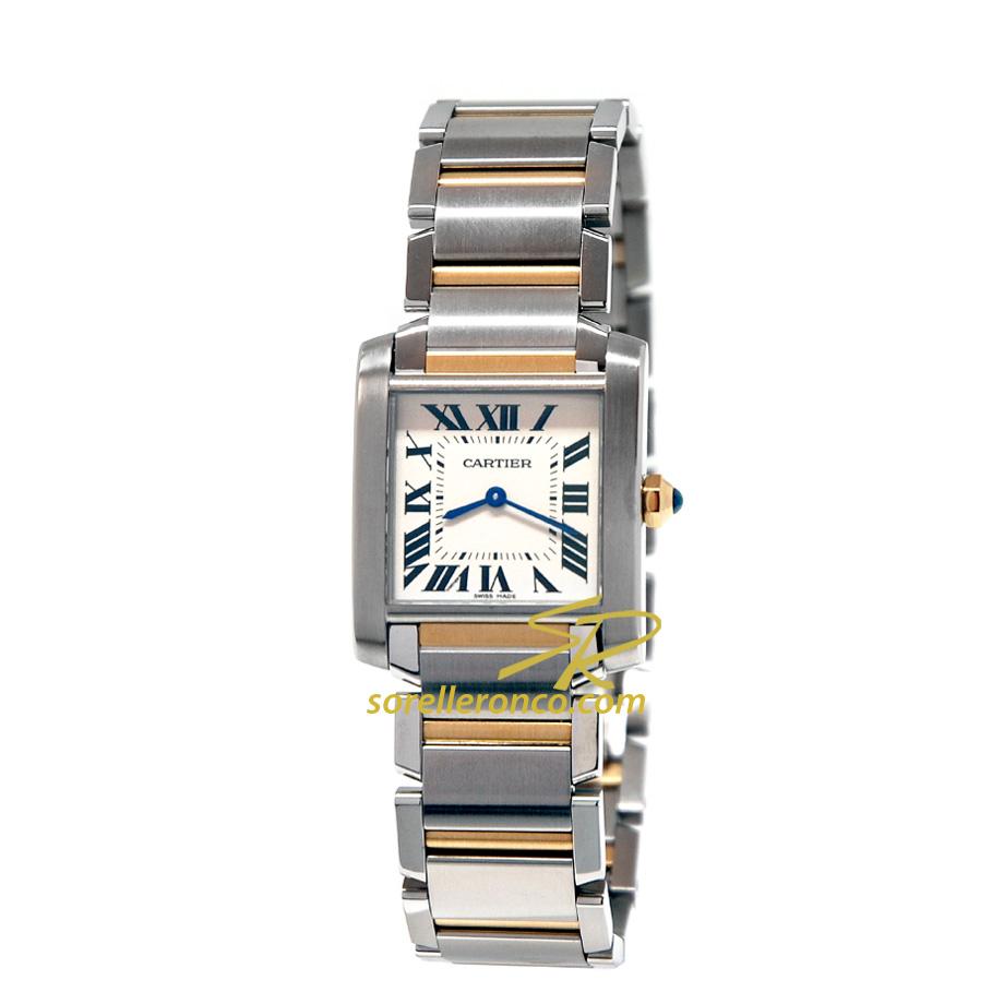 Orologio Cartier Tank Francaise Acciaio e Oro Giallo 18kt