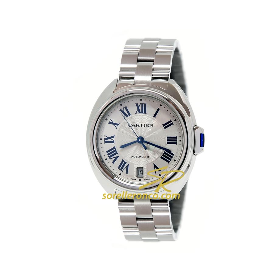 CLE' de Cartier Media Misura Automatico bracciale Acciaio