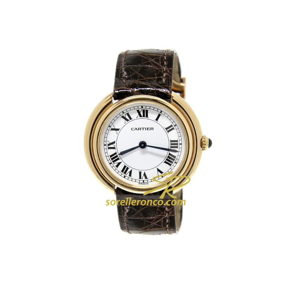 Orologio CARTIER Vendome Ronde Oro Giallo 18kt Carica Manuale