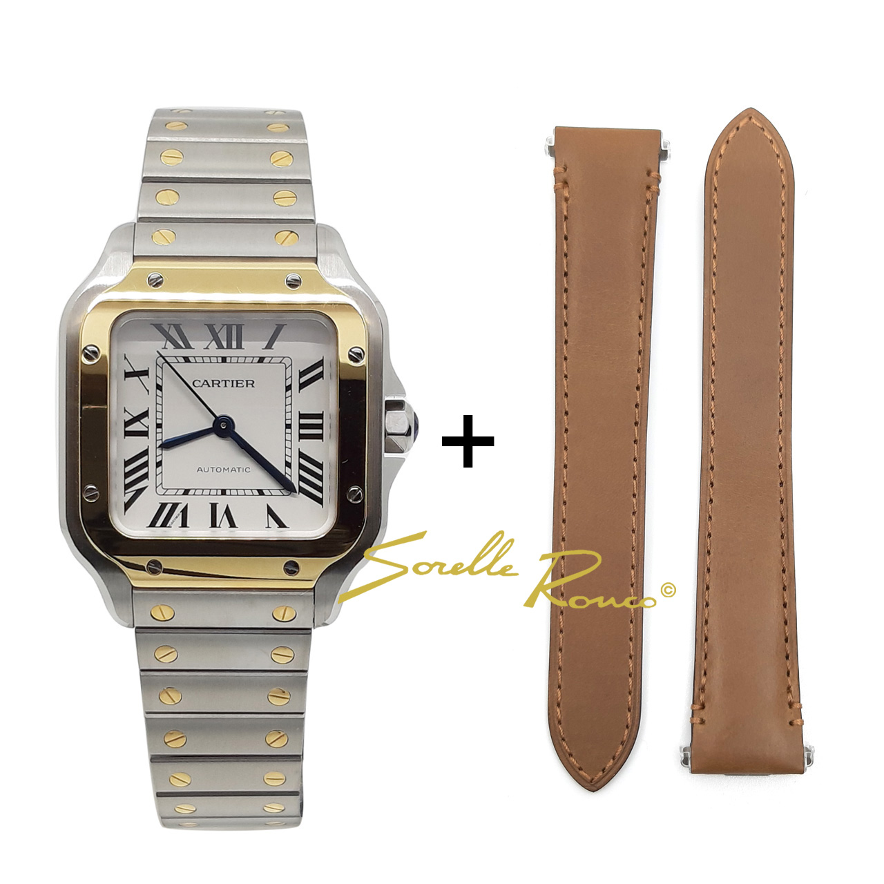 Cartier Santos de Cartier Automatico 2 Cinturini
