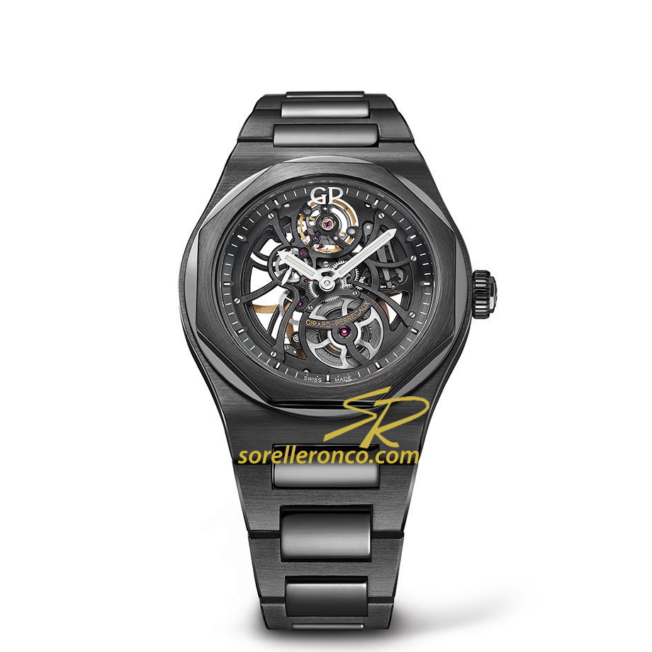 Laureato Skeleton Nero Ceramica Nera 42mm