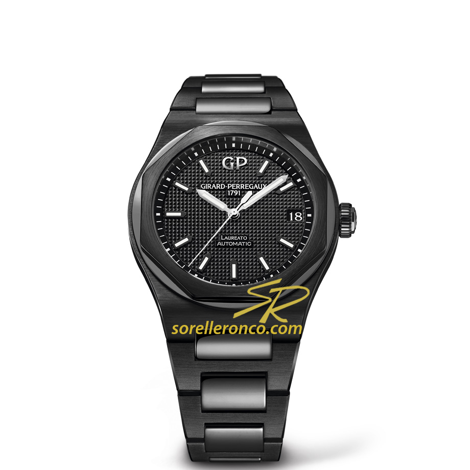 Laureato Ceramica Nera 42mm