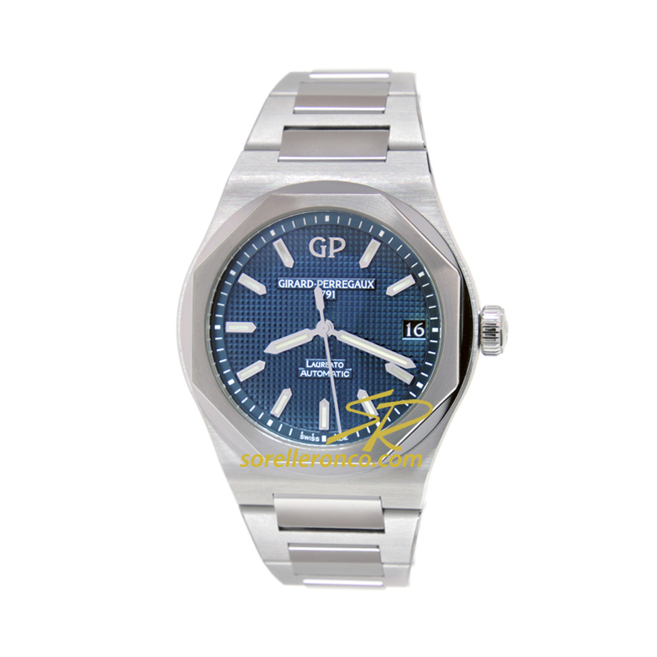 Laureato Quadrante Blu 42mm