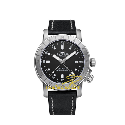 Airman World Timer Pelle 42mm