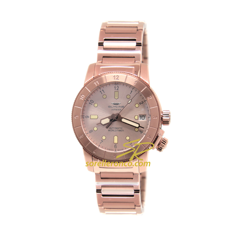 Airman Double Twelve PVD Oro Rosa 36mm