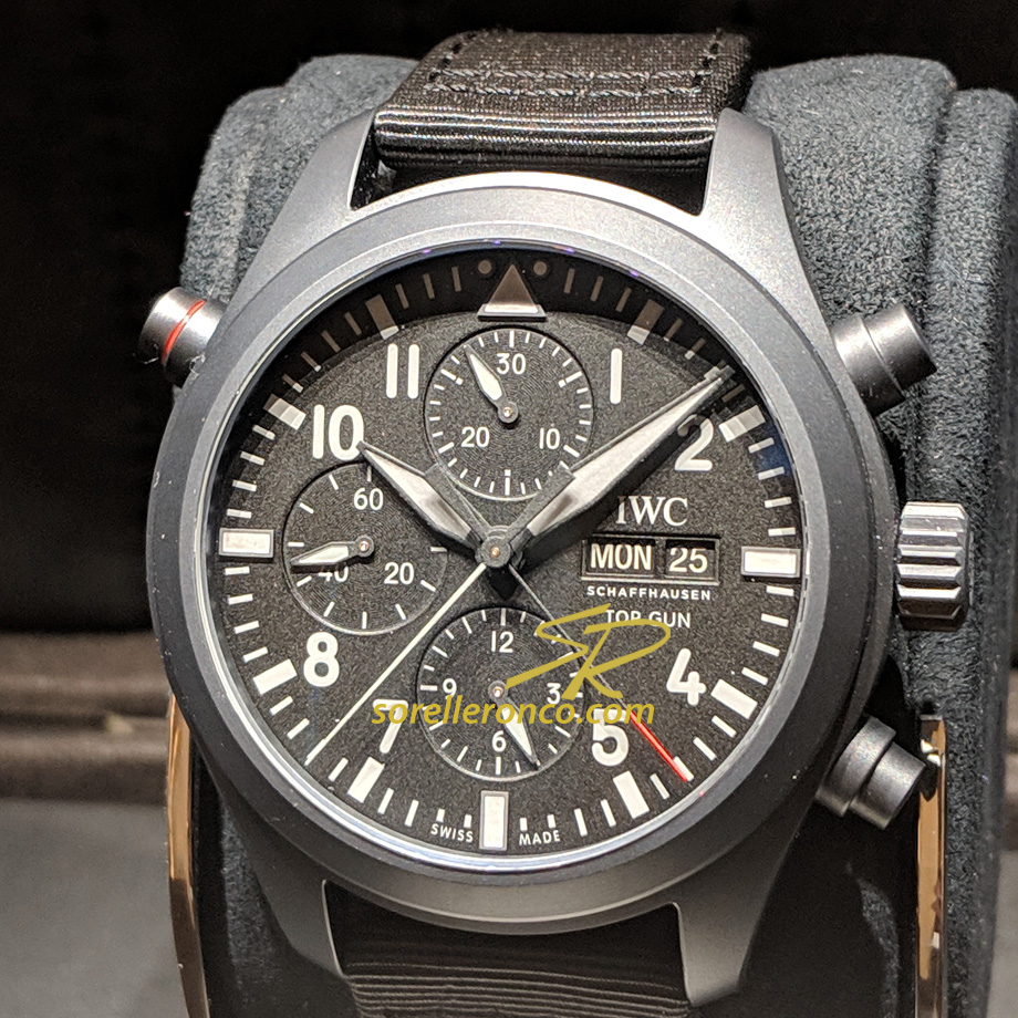 Pilot Double Chronograph Top Gun Ceratanium 44mm