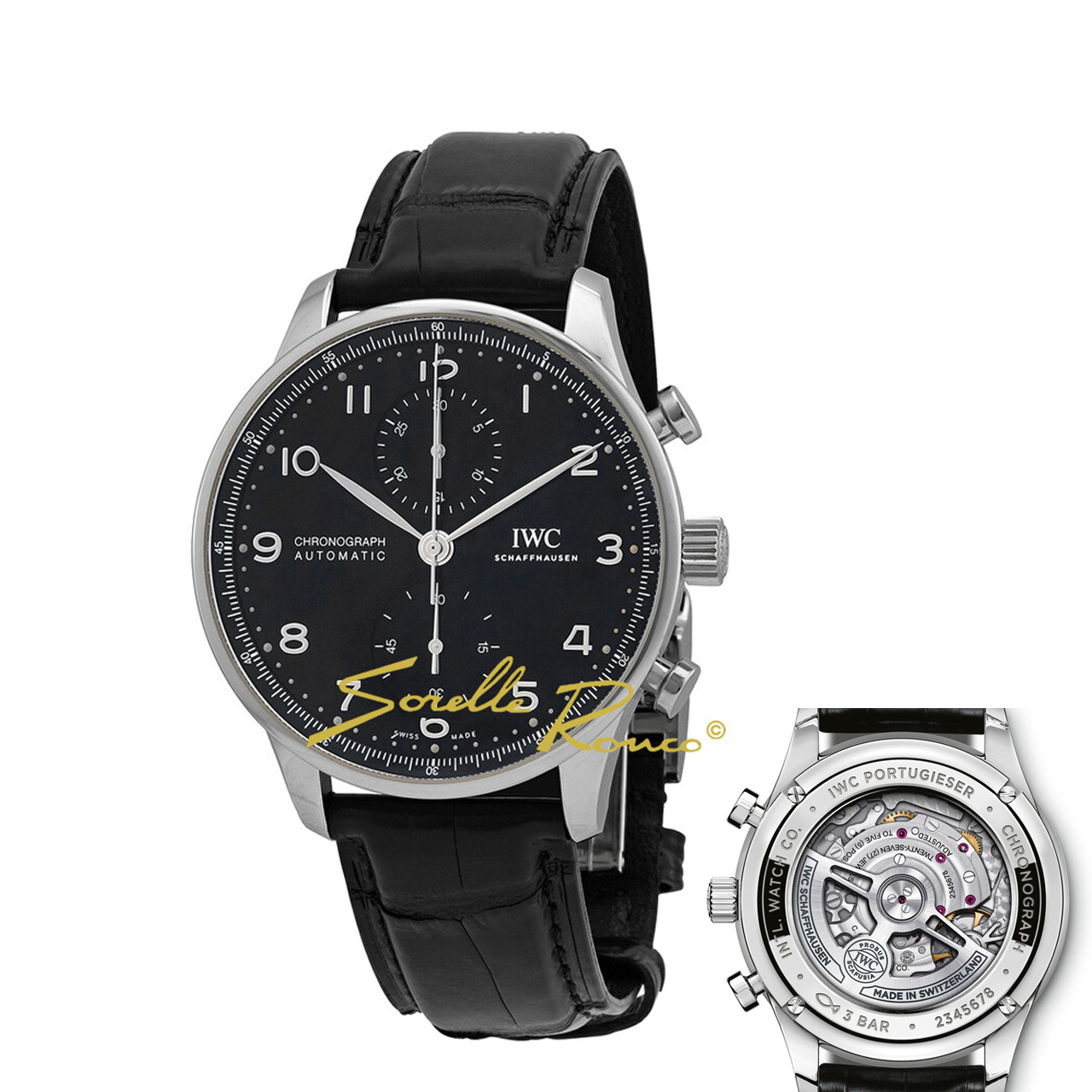 Portoghese Chrono Nero 41mm calibro MANIFATTURA