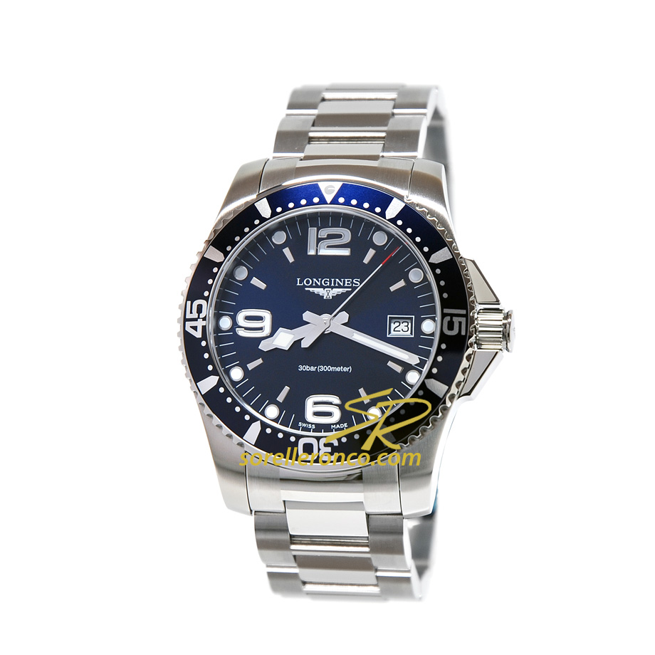 HydroConquest 41mm Automatico Blu Quarzo