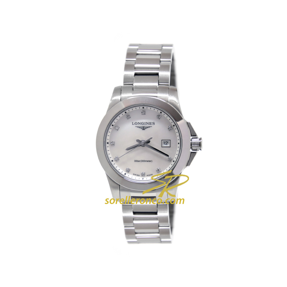 Conquest Lady Madreperla 29mm Diamanti Quarzo