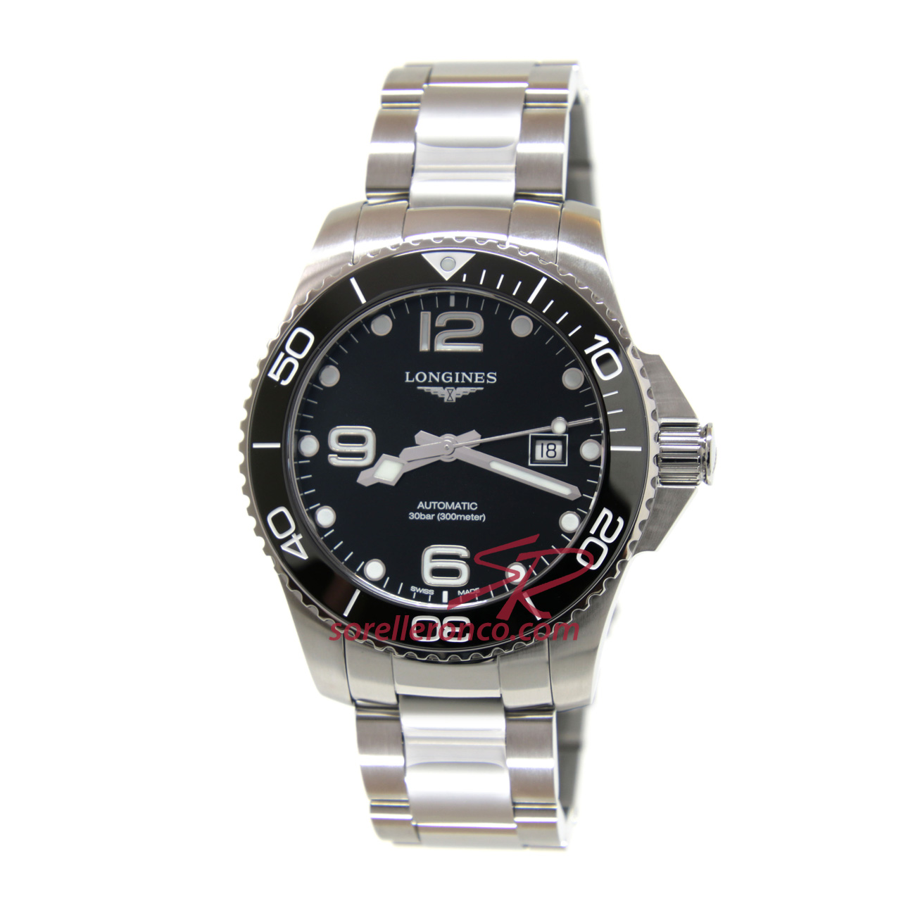 Hydroconquest 43mm Quadrante Nero