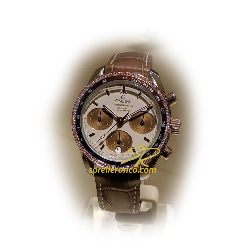 Orologio Omega Speedmaster Chrono Co-Axial Ghiera Diamanti 38mm