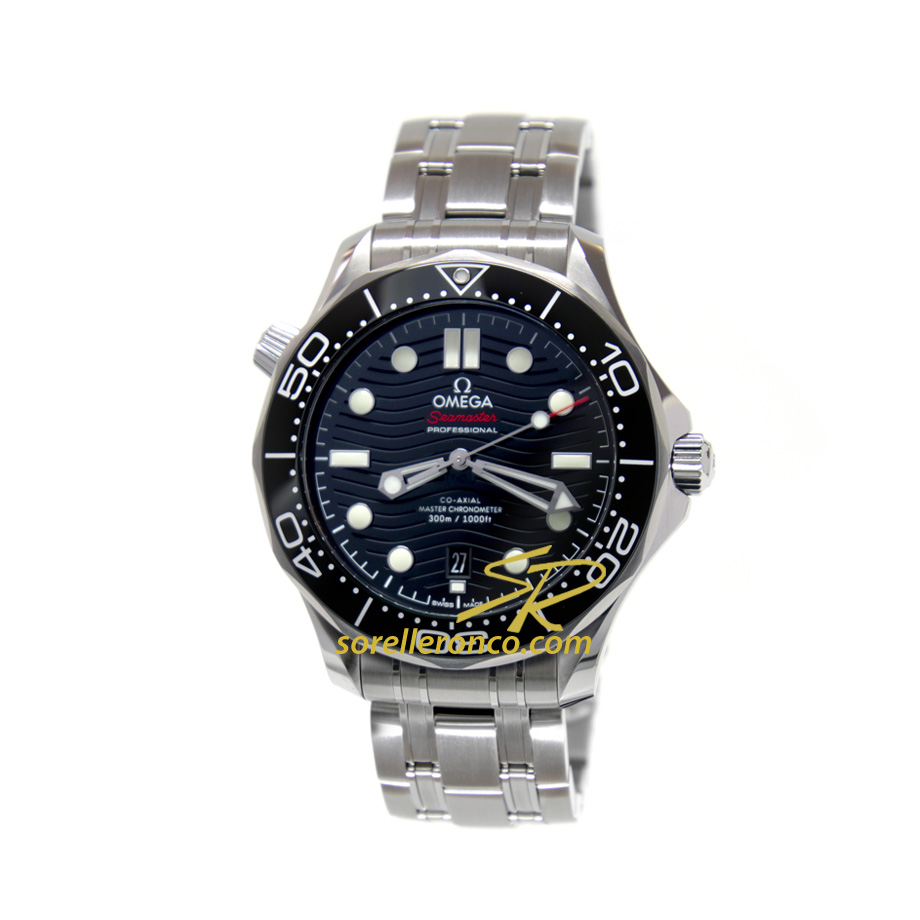 Seamaster Diver 300 Ghiera + Quadrante CERAMICA Nera 42mm