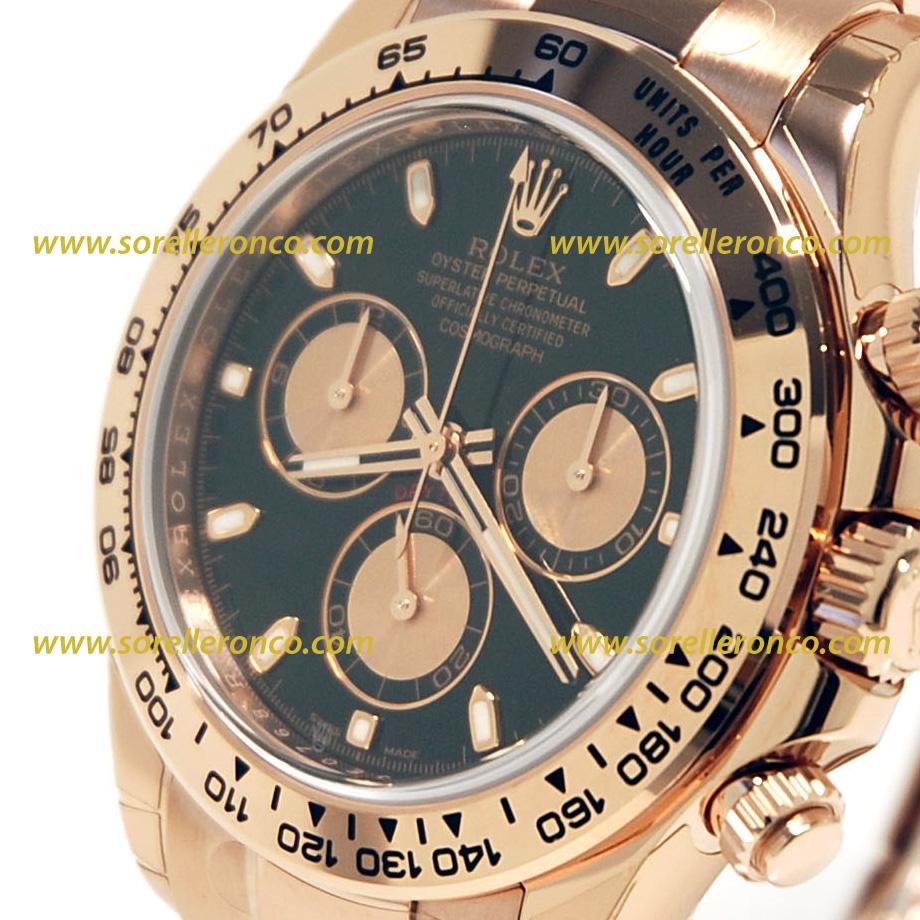 Rolex chrono daytona oro rosa 116505 prezzo sorelle ronco for Sorelle ronco rolex
