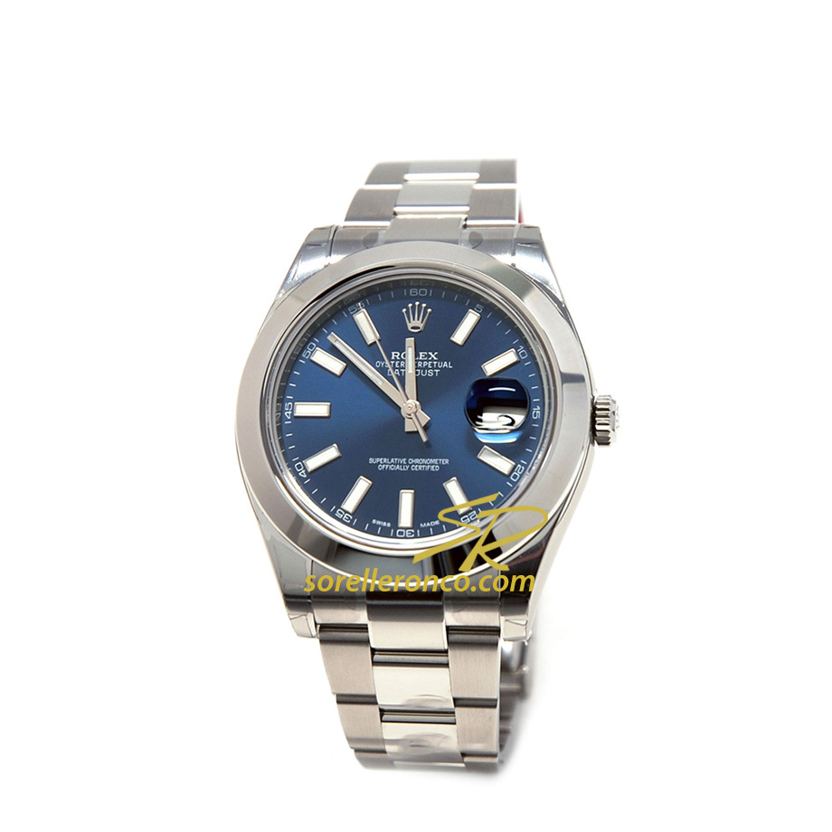 Datejust 41mm Quadrante Blu Oyster