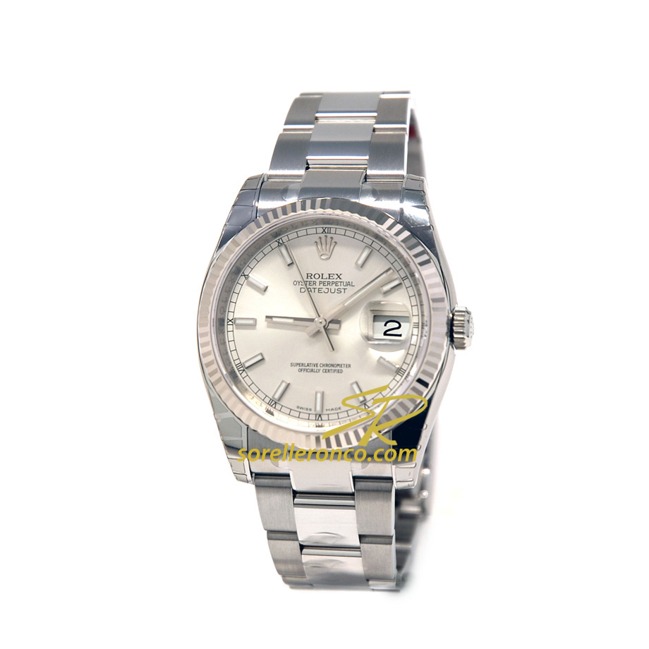 Rolex datejust 36mm oyster perpetual 116234 offerta for Sorelle ronco rolex