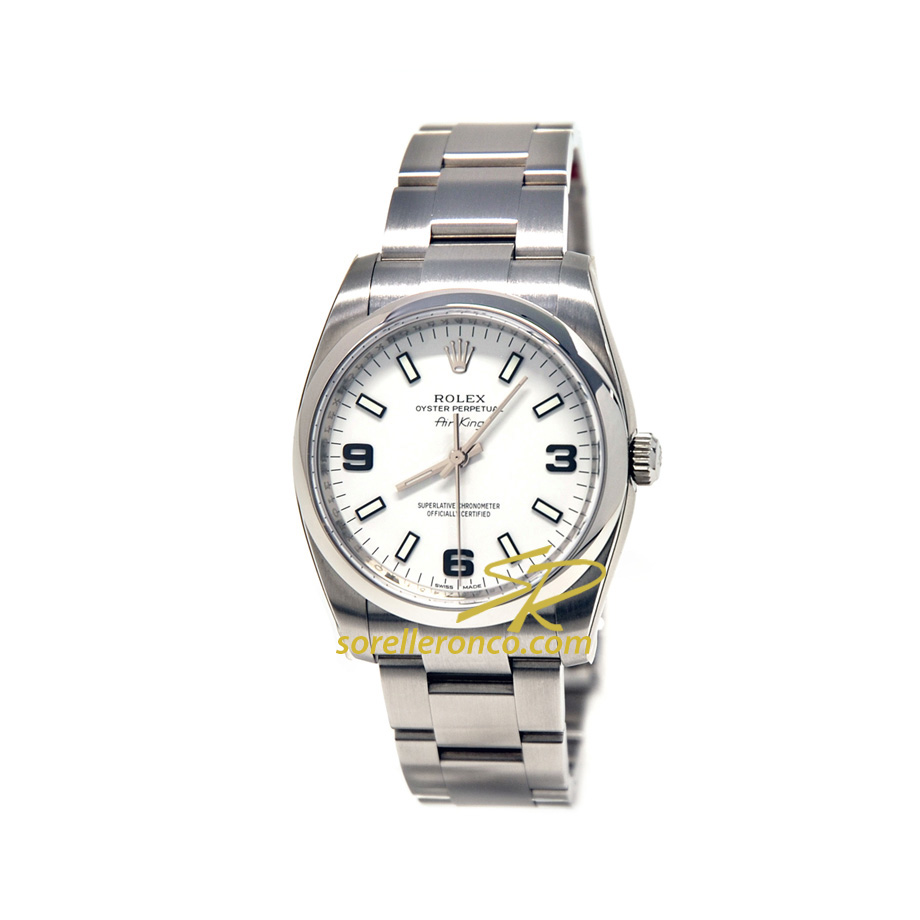 Rolex air king bianco 369 114200 offerta sorelle ronco for Sorelle ronco rolex