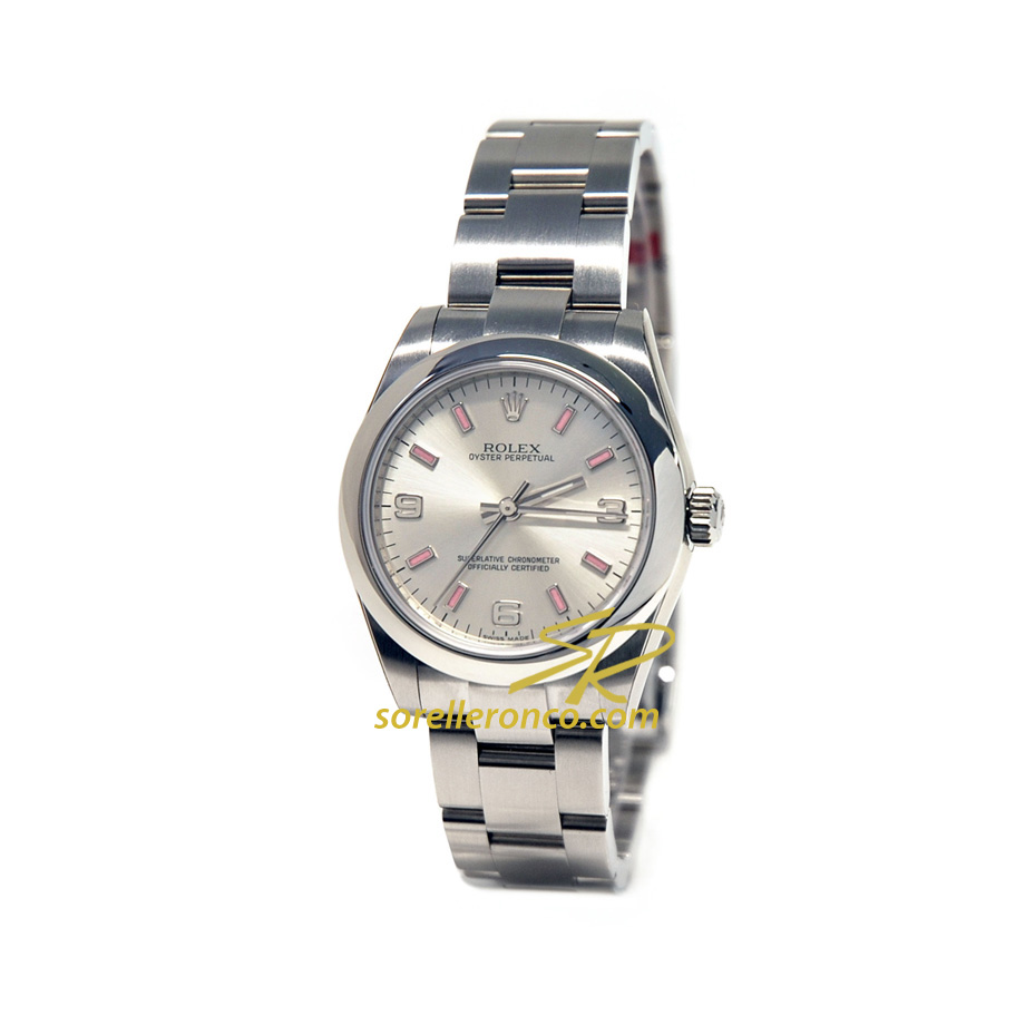 Oyster Perpetual 31mm Silver Indici Rosa