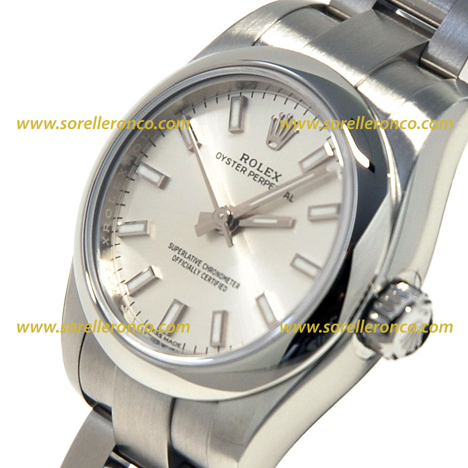 Rolex oyster perpetual 26mm silver 176200 nuovo sorelle for Sorelle ronco rolex