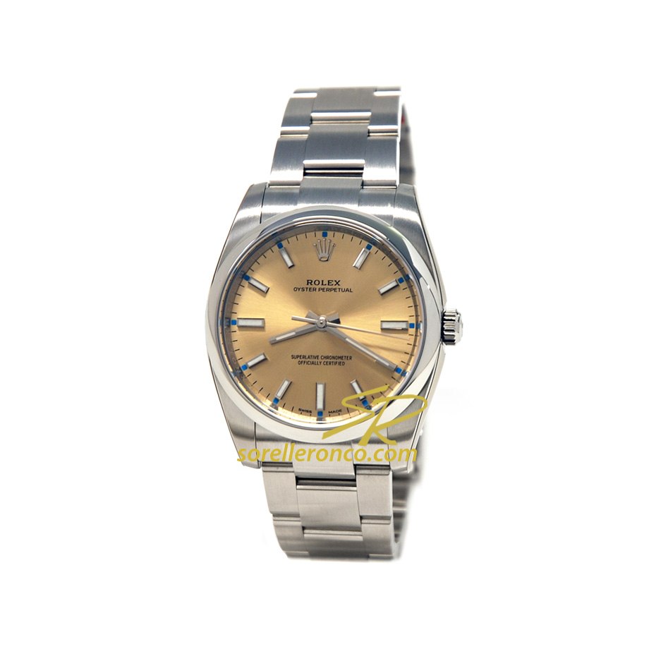 Orologio ROLEX Oyster Perpetual 34mm Champagne