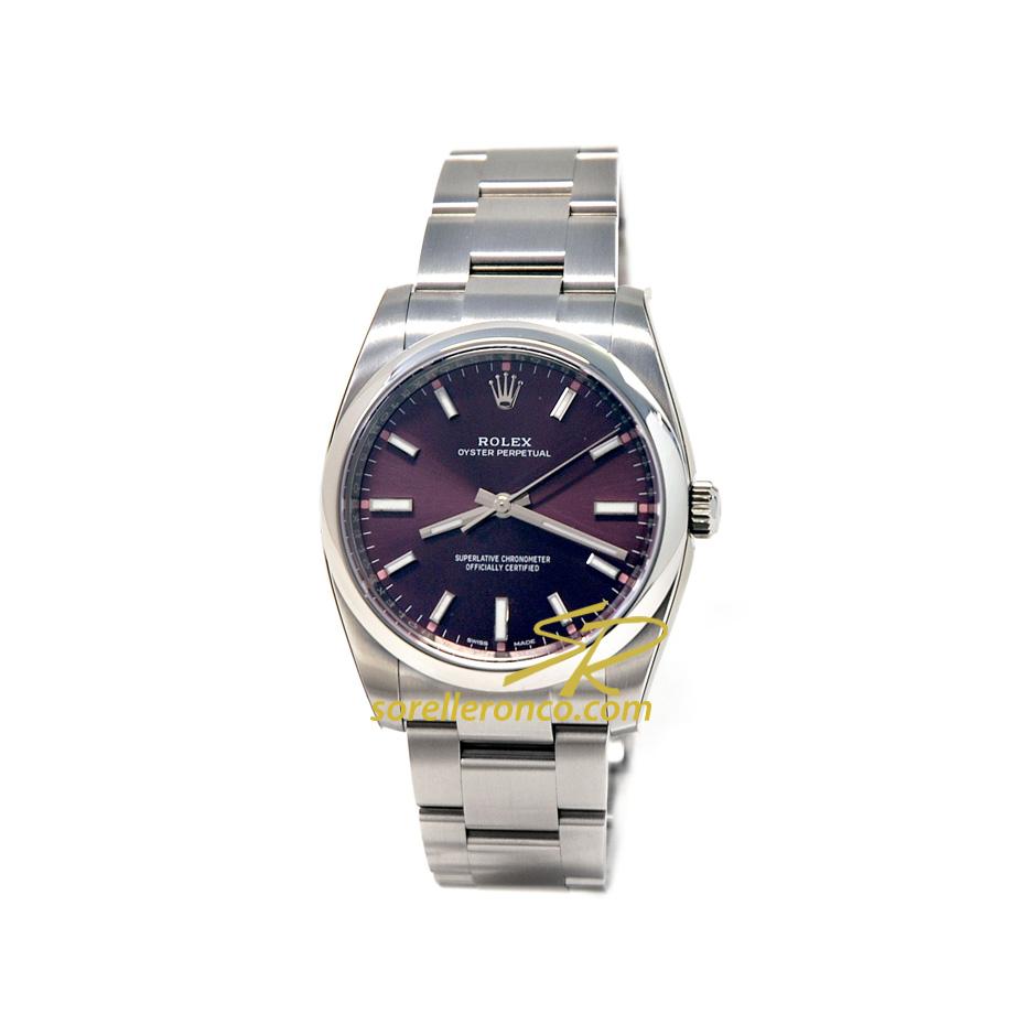 Orologio Rolex Oyster Perpetual Quadrante Viola 34mm
