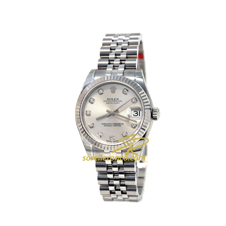 Vendita a prezzo Offerta Orologio ROLEX Donna Datejust 31mm Silver Jubilee con Diamanti