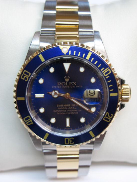 a basso prezzo d9e37 dc41e ROLEX - SUBMARINER Acciaio e Oro quadrante Blu - Ref. 16613 ...