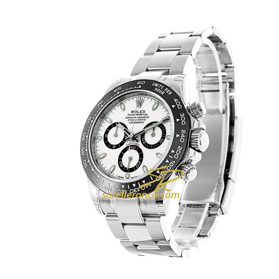 Rolex daytona bianco ghiera cerachrom 116500ln prezzo for Sorelle ronco rolex