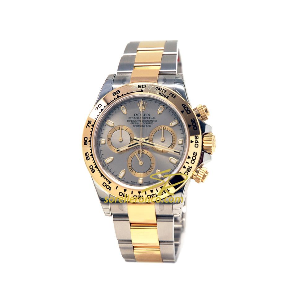 Rolex daytona acciaio oro 40mm rodio 116503 nuovo for Sorelle ronco rolex
