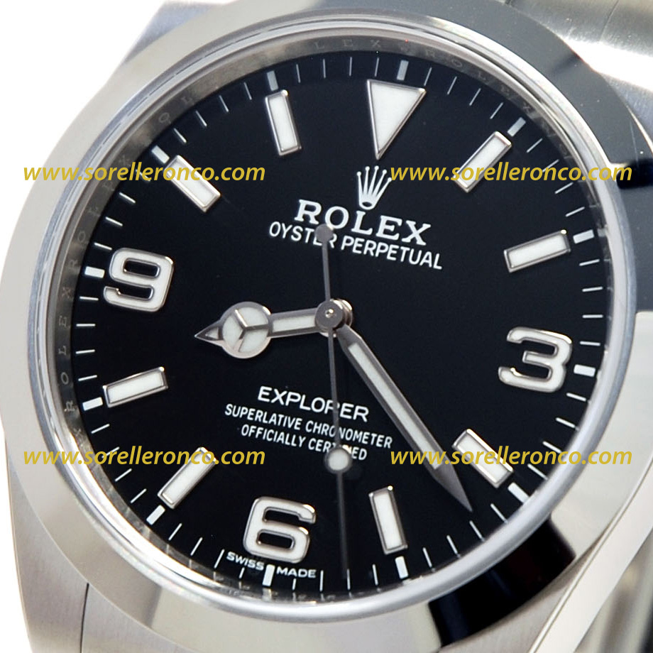 Rolex explorer 1 nero 39mm 214270 nuovo sorelle ronco for Sorelle ronco rolex