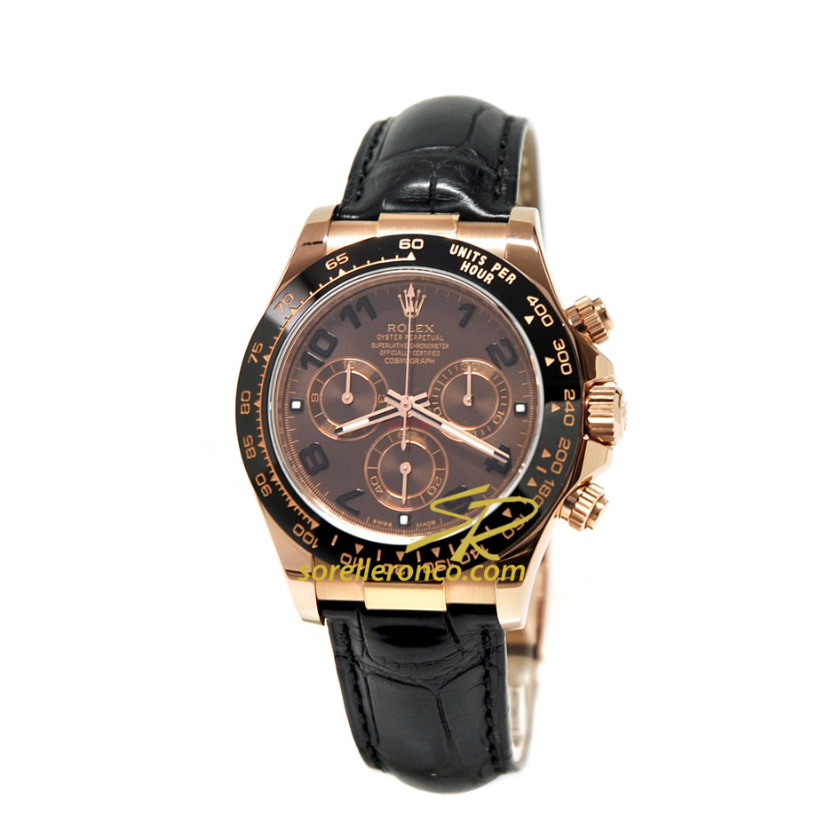 Rolex cosmograph daytona rose gold chocolate 116515nl for Sorelle ronco rolex