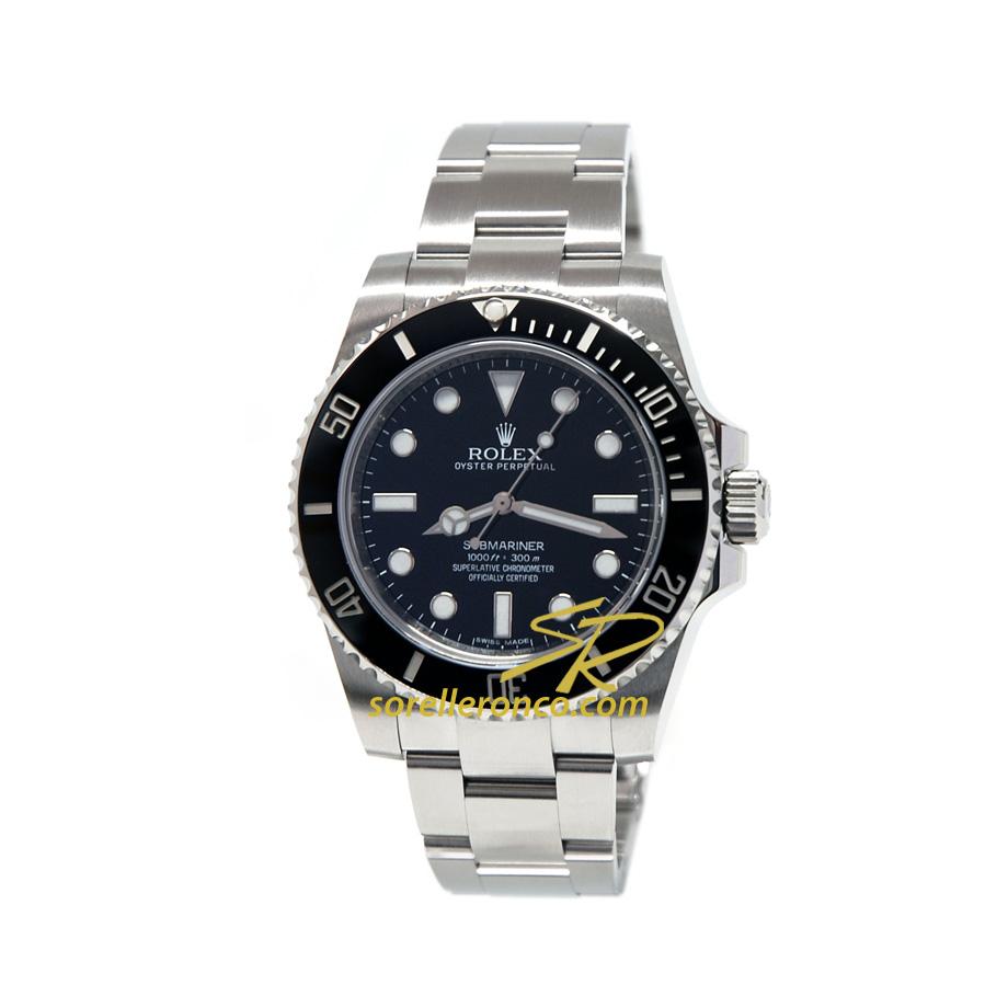 Rolex submariner no date ghiera ceramica 114060 usato for Sorelle ronco rolex