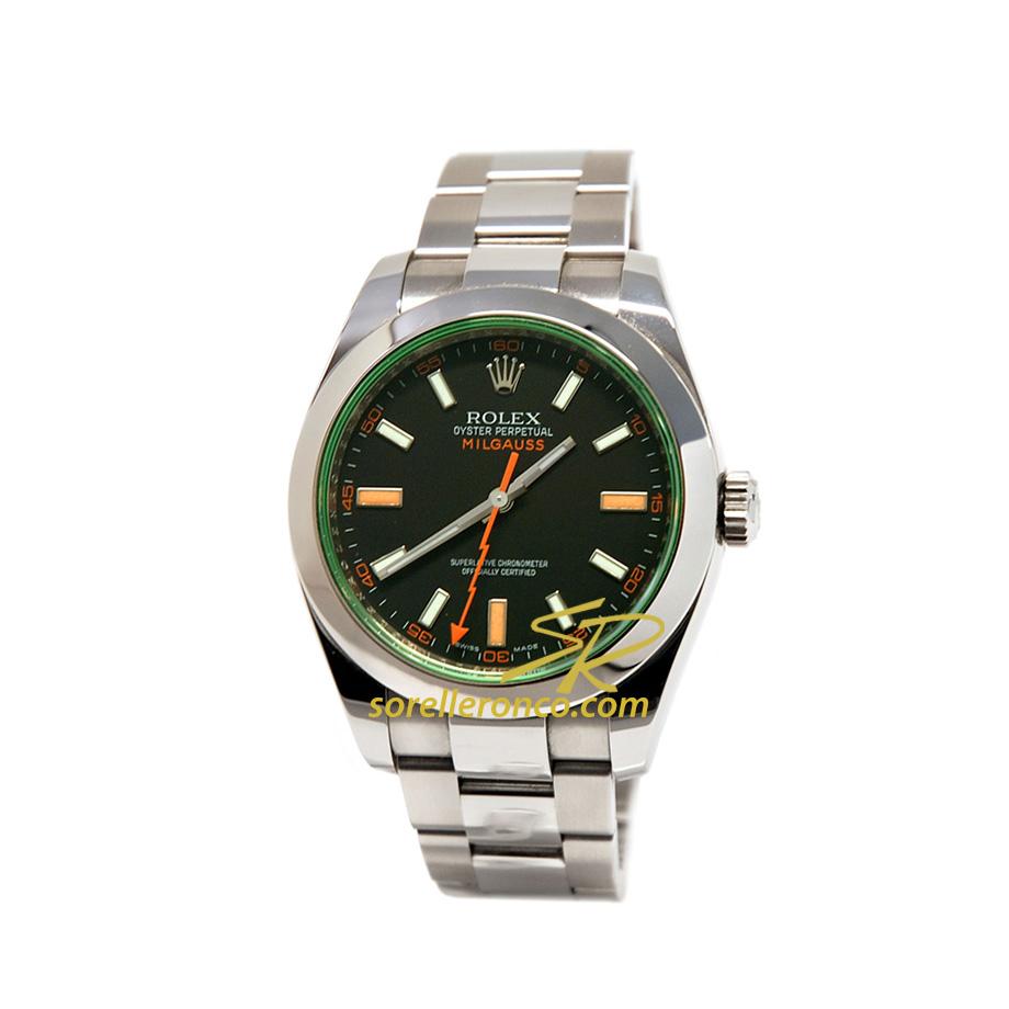 Milgauss Vetro Verde Quadrante Nero 40mm - Nuovo