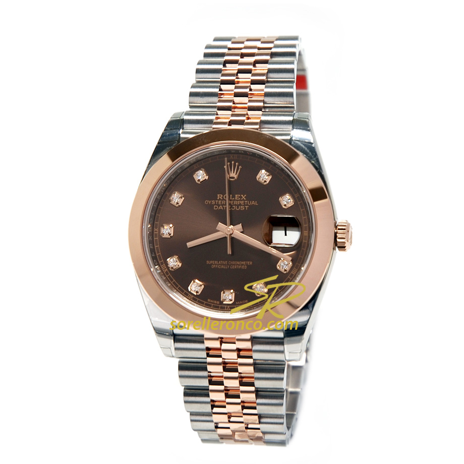 Datejust 41mm Acciaio e Everose Jubilee