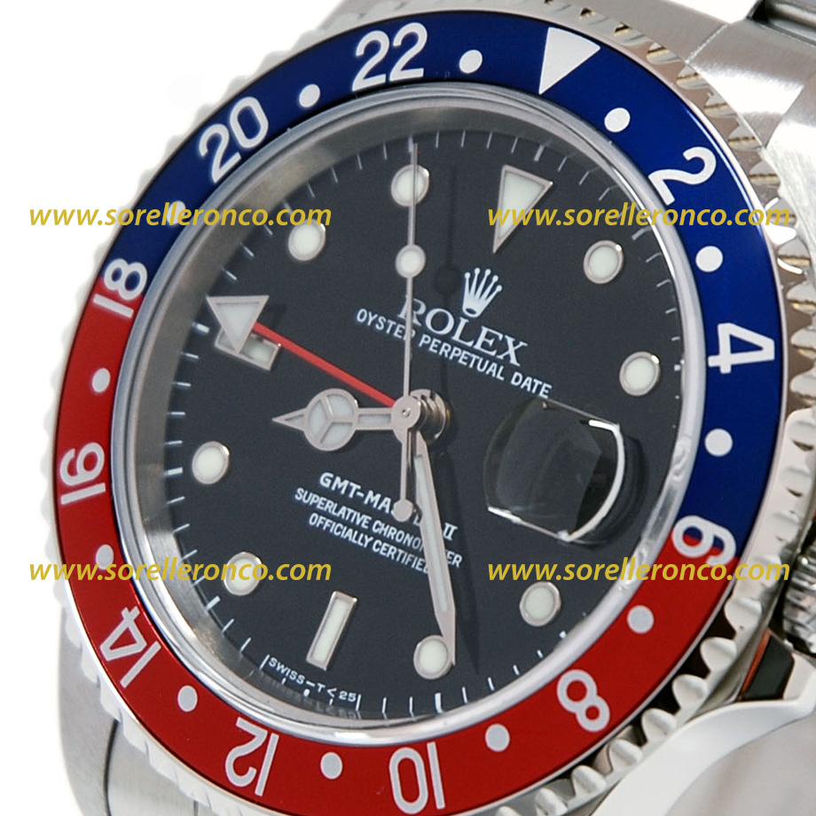 Rolex gmt master ii pepsi 16710 offerta sorelle ronco for Sorelle ronco rolex