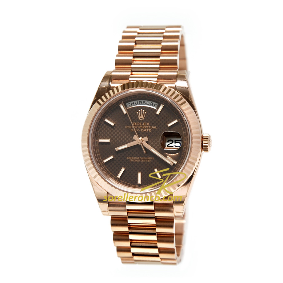 Rolex day date chocolate president oro rosa 228235 prezzo for Sorelle ronco rolex