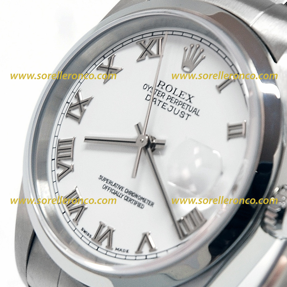 Rolex datejust quadrante bianco for Sorelle ronco rolex
