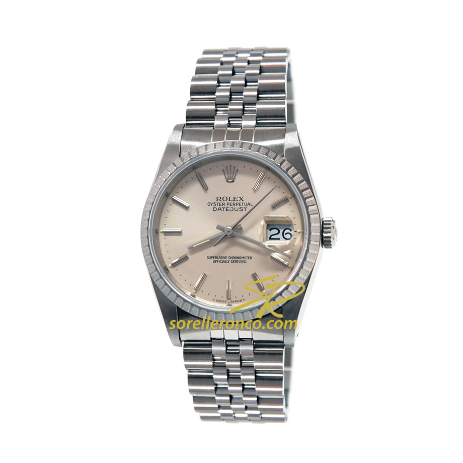 Datejust 36mm Acciaio Jubilee Silver