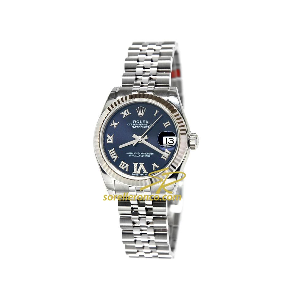 Orologio ROLEX Datejust Viola Indici Romani e Diamanti al 6 Jubilee 31mm