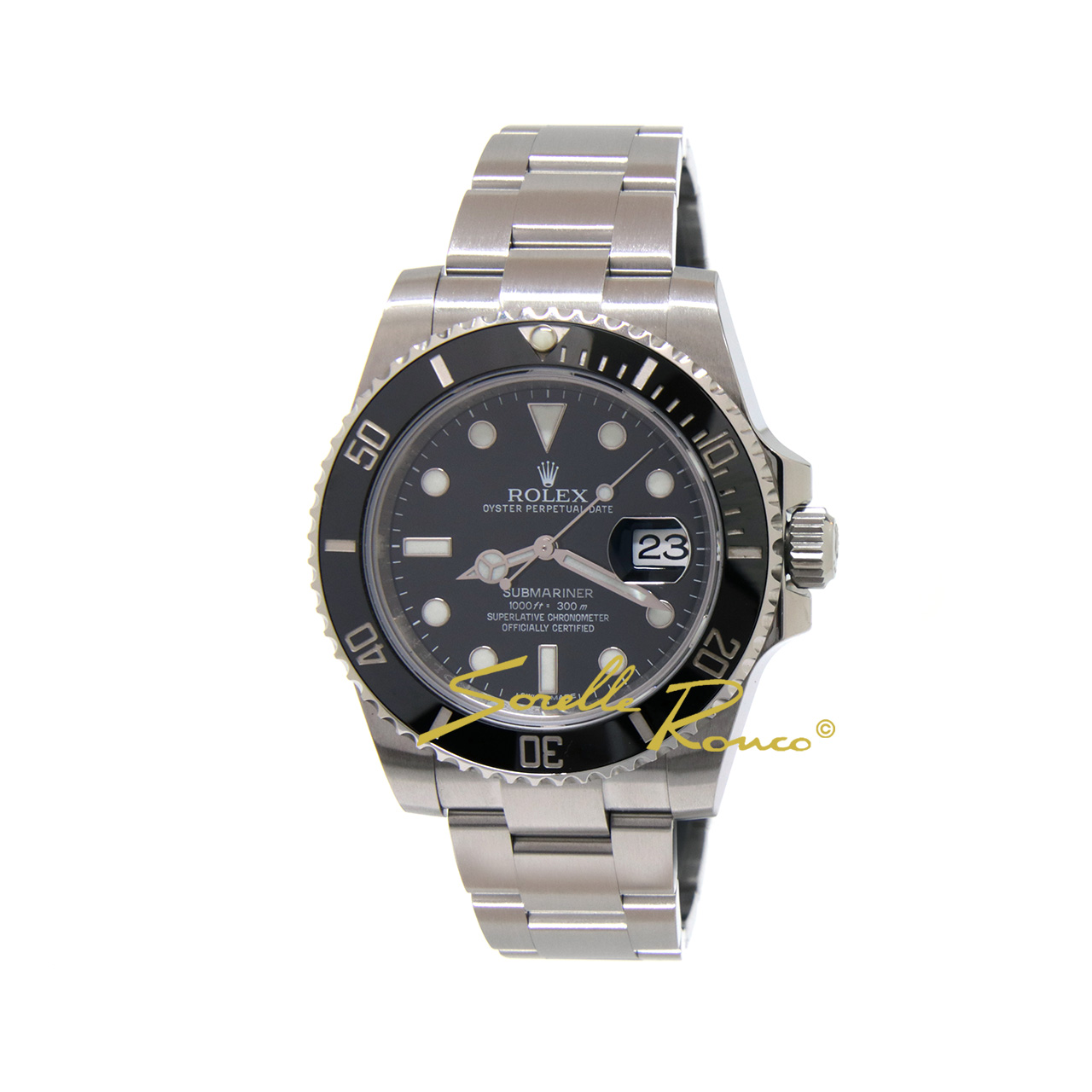 Rolex submariner date acciaio 40mm ghiera nera 116610ln for Sorelle ronco rolex