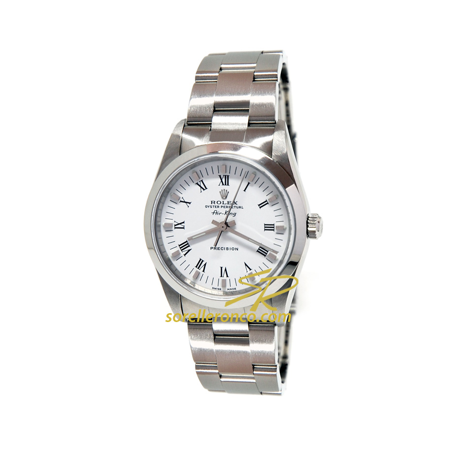Orologio ROLEX Air King Quadrante Bianco Numeri Romani 34mm