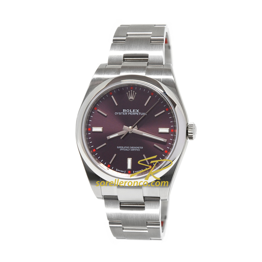 Rolex oyster perpetual 39mm red grape 114300 offerta for Sorelle ronco rolex