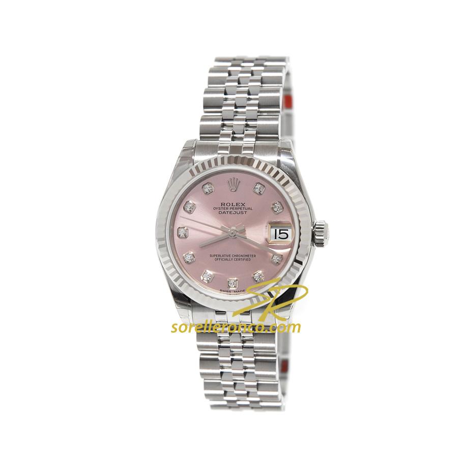 Orologio Rolex  Datejust Quadrante Rosa 10 Diamanti 31mm Jubilee