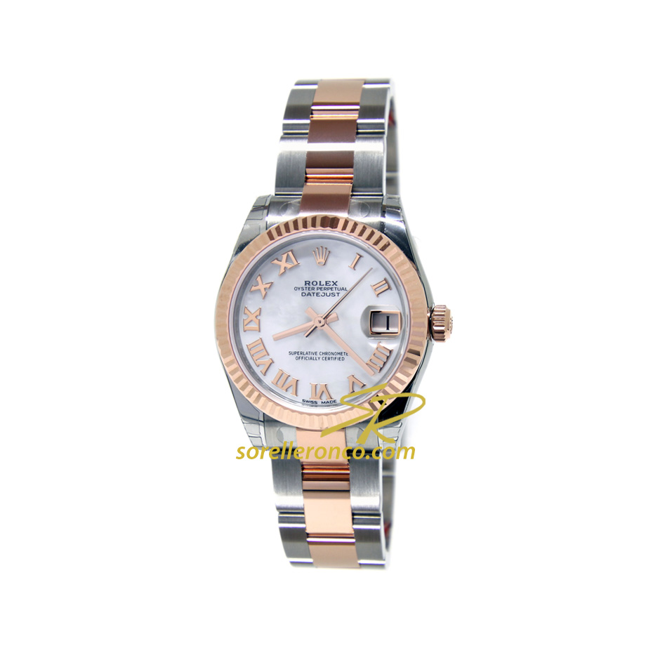 Datejust 31mm Madreperla Acciaio e Oro Everose