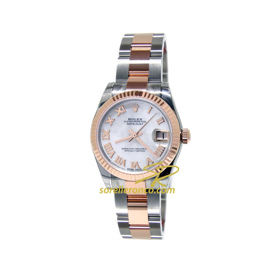 Orologio Rolex Datejust Acciaio e Oro Rosa Oyster Quadrante Madreperla 31mm