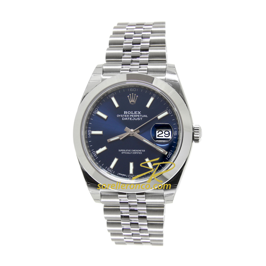 Datejust Blu Indici 41mm Jubilee