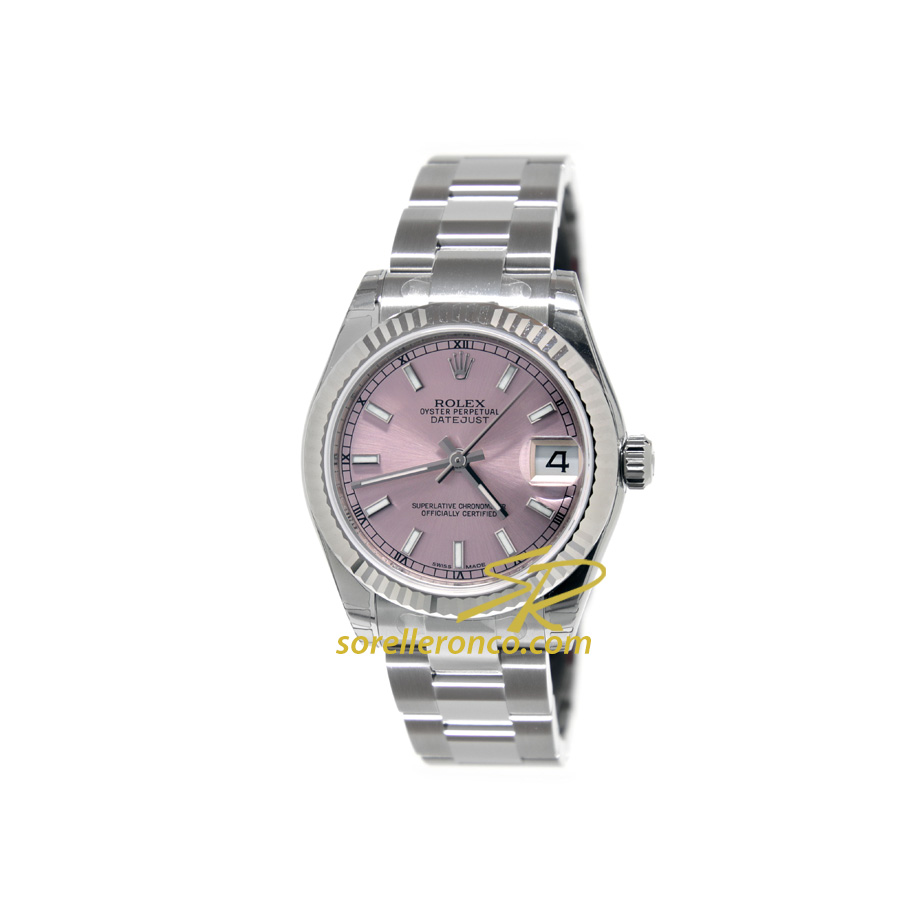 Rolex datejust rosa indici 31mm oyster 178274 prezzo for Sorelle ronco rolex